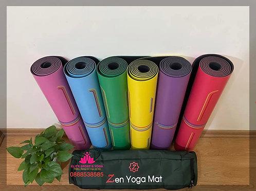 Thảm yoga định tuyến cầu vồng cao cấp tặng kèm túi đựng