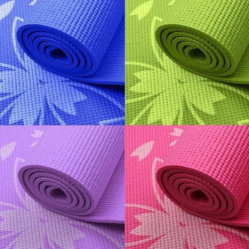 Thảm tập yoga hoa văn PVC
