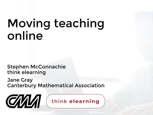 Free Webinar: Moving Maths Teaching Online