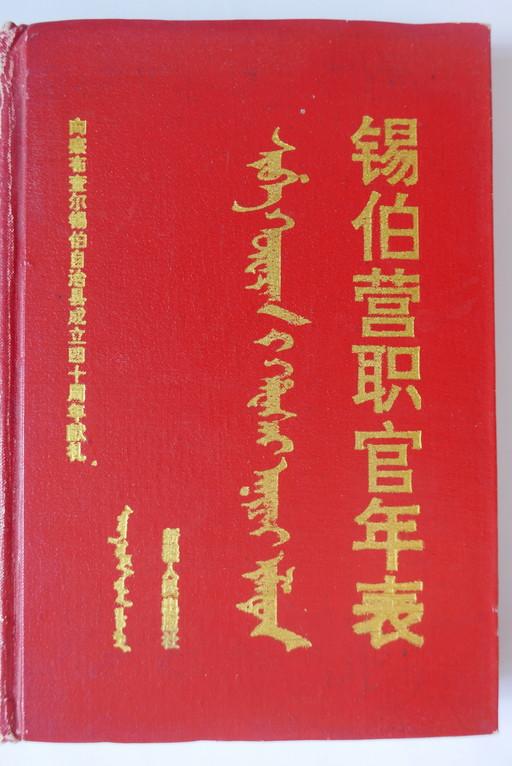 Xiboying zhiguan nianbiao 錫伯營職官年表
