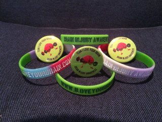 New Brain Injury Awareness Bracelets, look at all the support you can show