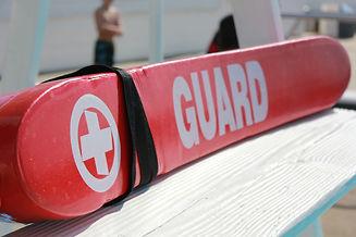 Lifeguard Rescue tube on Pool Lifeguard