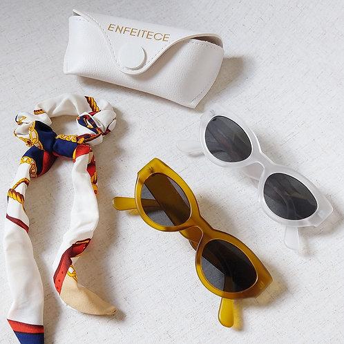 Óculos de Sol Retrô Transparente