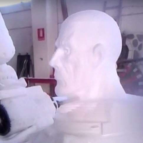 """scultura testa """"emperor of mankind"""""""