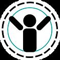 team rehab logo Man white circle backgro
