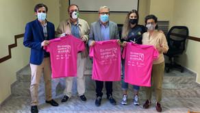 El Cáceres muestra su apoyo a la Asociación Española contra el Cáncer por la Marcha Rosa
