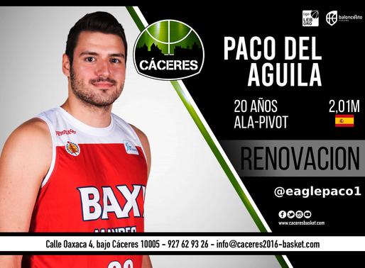 T20/21 - LEB Oro - Paco del Águila será parte de la plantilla del Cáceres Patrimonio de la Humanidad