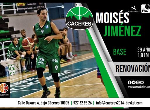 T20/21 - Liga EBA - El Torta del Casar Extremadura renueva a su base Moises Jiménez