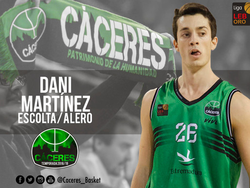 T18/19 - El Cáceres confía en Dani Martínez