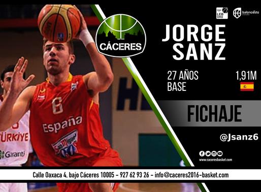 T20/21 - LEB Oro - Jorge Sanz será jugador del Cáceres Patrimonio de la Humanidad esta temporada