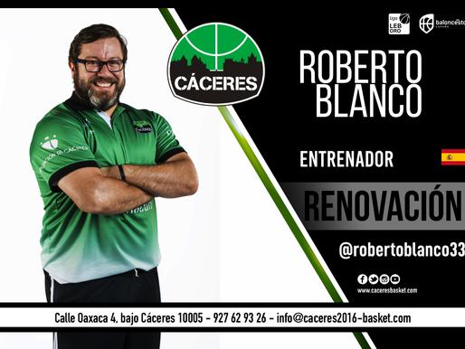 T21/22 - LEB Oro - El Cáceres renueva su confianza en Roberto Blanco