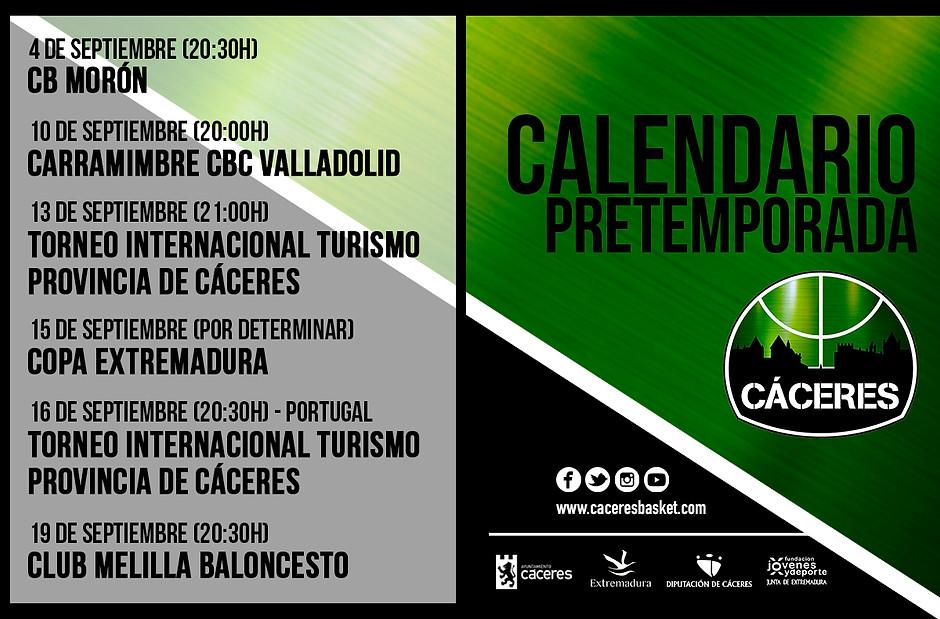 Leb Oro Calendario.T19 20 Leb Oro El Caceres Anuncia El Calendario De Amistosos