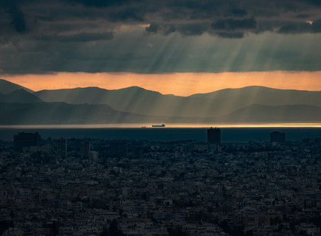 A winter Sunset in Athens