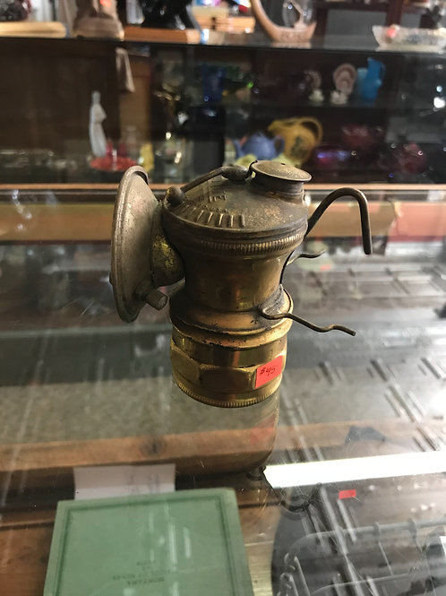 Auto-Lite carbide mining lamp