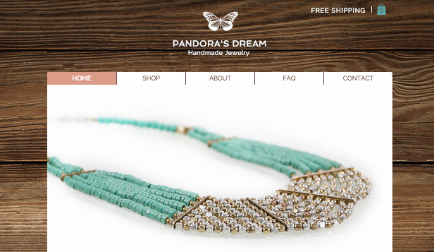 Fashion & Beauty website templates –  Handmade Jewelry