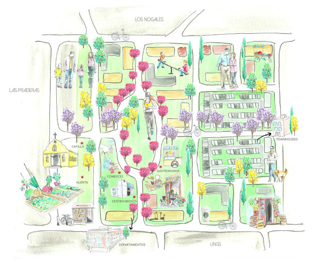 """Masterplan Emprendimiento Inmobiliario """"Plaza Nogales"""""""