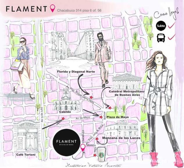 Mapa para Flament
