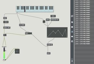 MAX 7 line~オブジェクトと音設定2