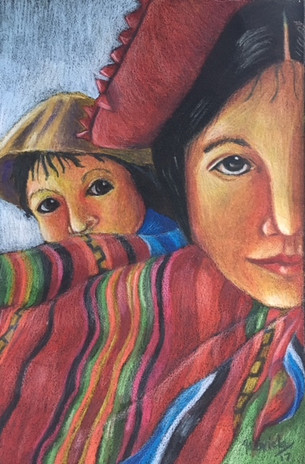 Indigenous Woman with Child
