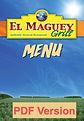 Menu El Maguey Grill Elkhardt, Indiana