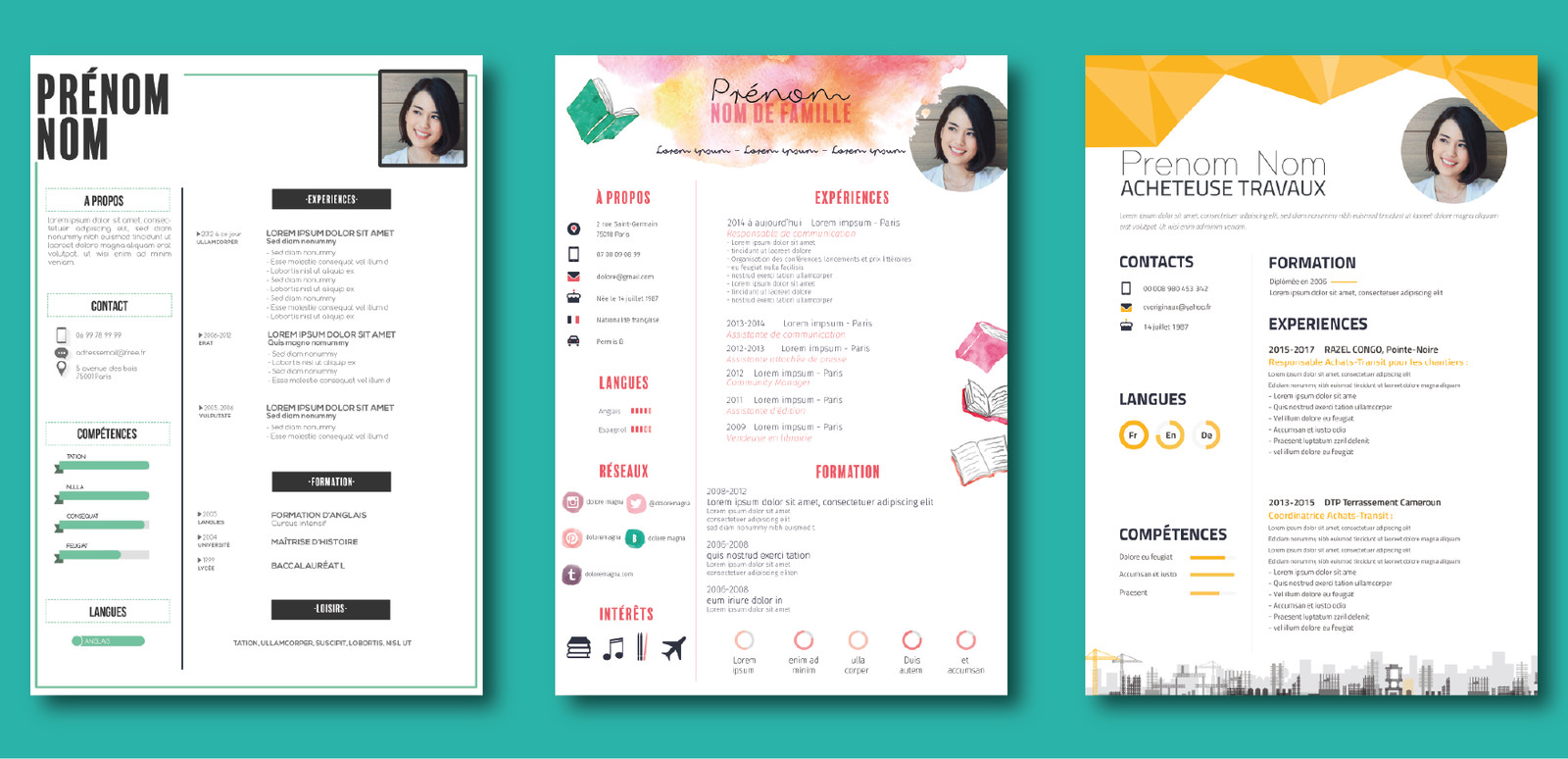 fabuleux cv design graphique hr29