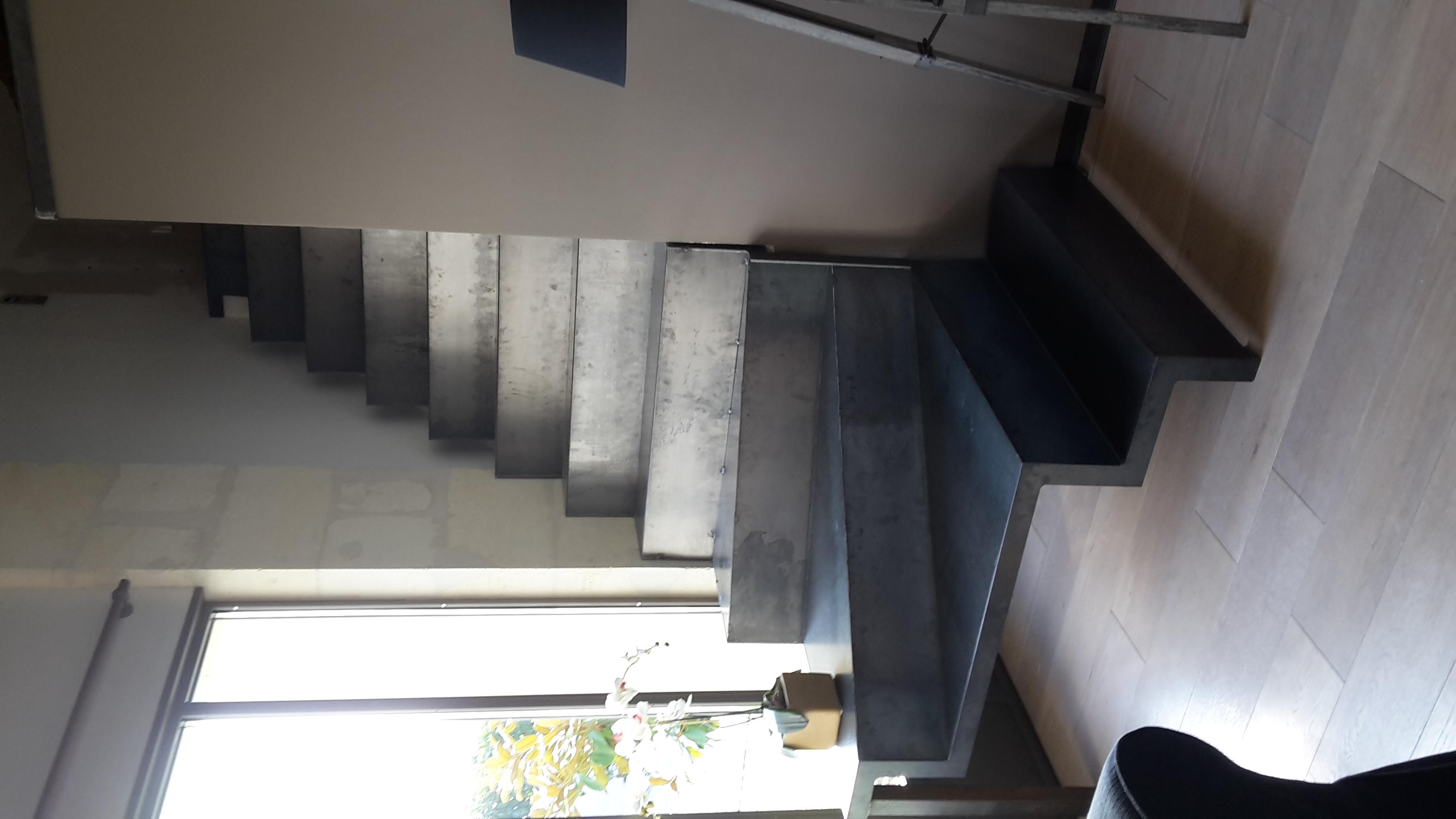 Escalier métallique maison