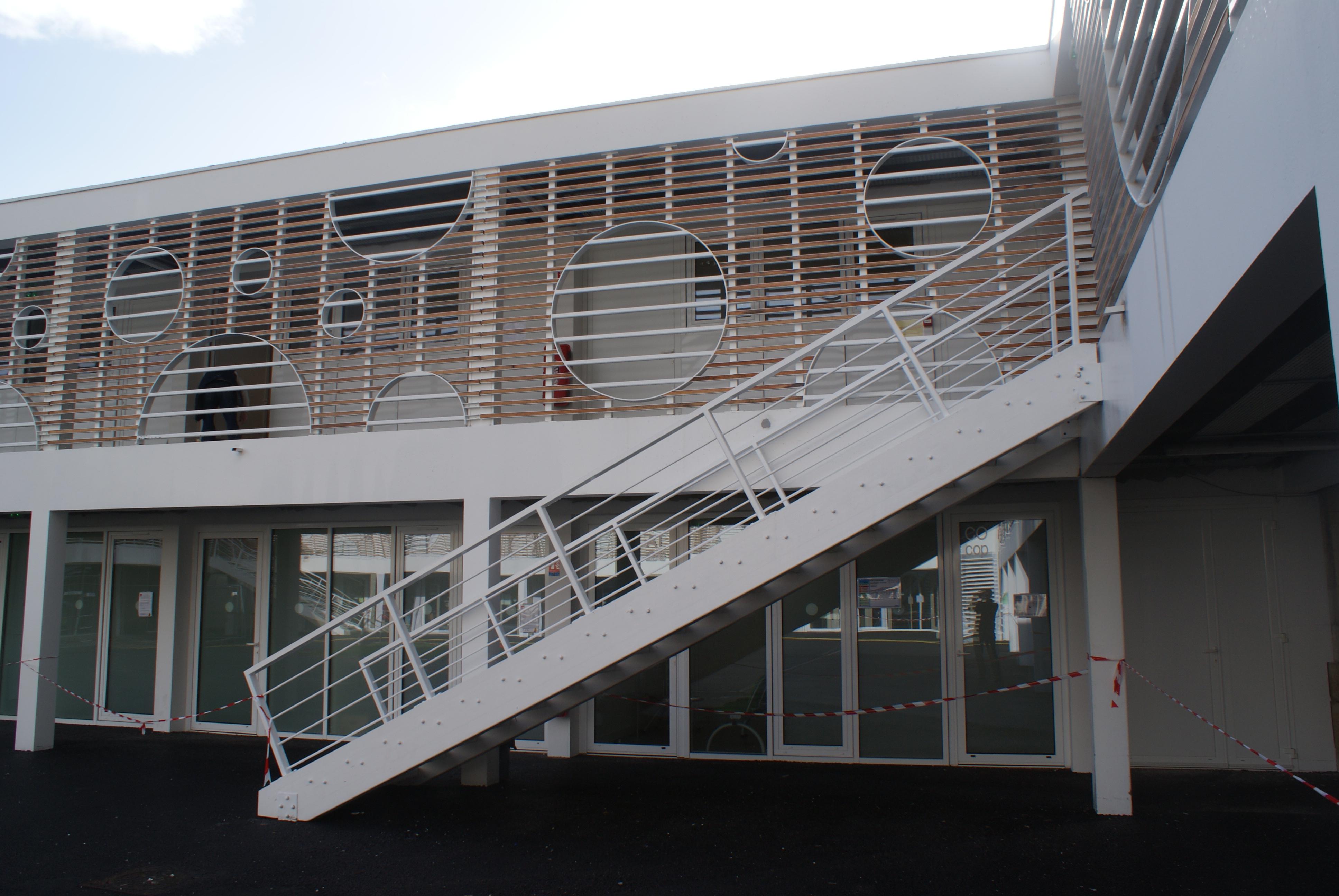 Escalier d'un  lycée
