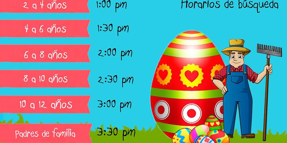 28 de Abril Busqueda de Huevos de Pascua