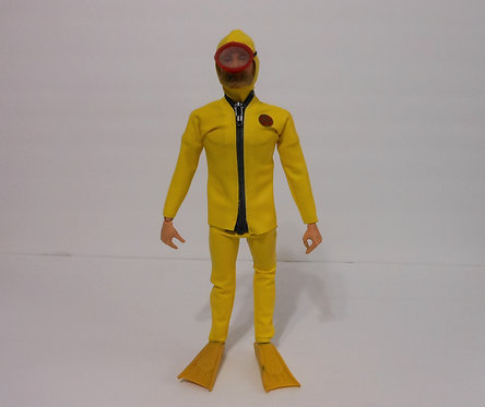 Yellow Scuba Suit Action Outfit