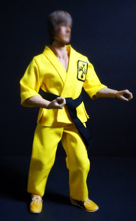 YELLOW DRAGON DOGI MARTIAL ARTS OUTFIT