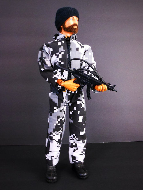 FITTED DIGITAL CAMO JUMPSUIT (SMOKE)