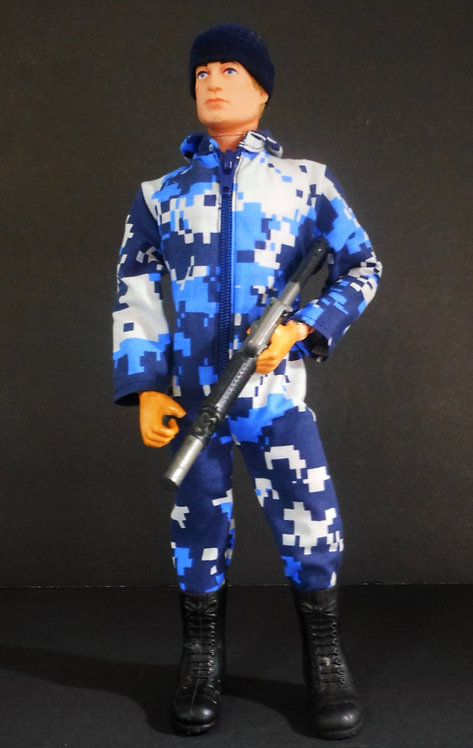 FITTED DIGITAL CAMO JUMPSUIT (NAVY)