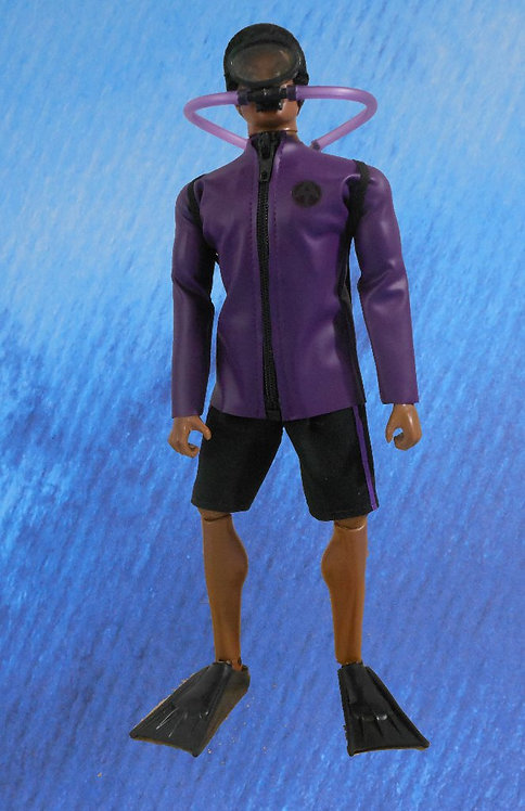 DARE TO DIVE SCUBA ACTION OUTFIT SET (PURPLE HAZE)