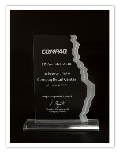 Compaq Retail Center of the year 2001