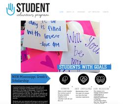 Website Design for Student Volunteer