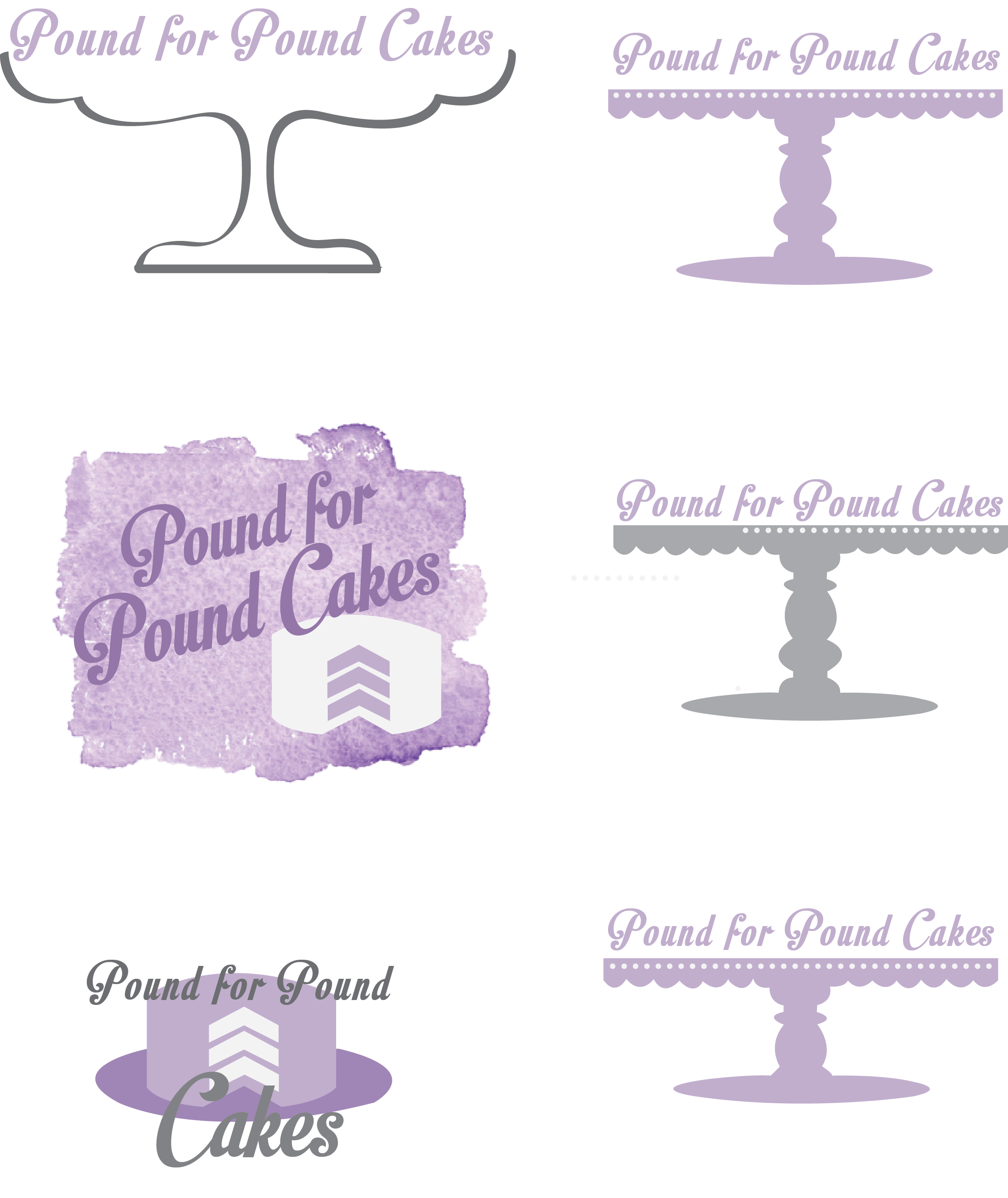 Logo Designs:Pound for Pound Cakes
