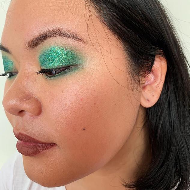 Emerald Green Eye Look for Allure