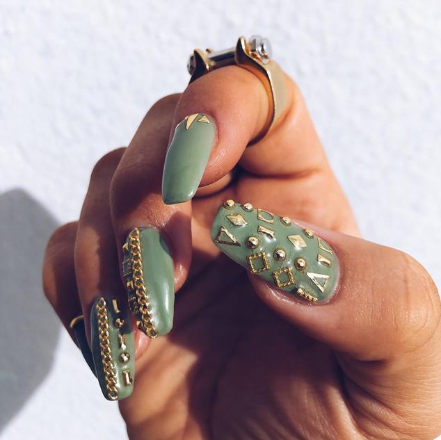 Sage Money Nails #ManiMonday