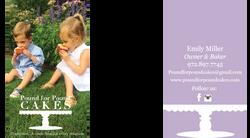 Pound Cake Business Card
