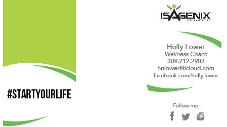 Isagenix Business Card for Holly