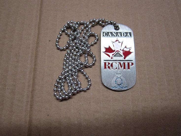 Pewter Dog Tag-Canada RCMP #111