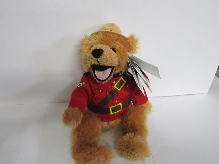 "Stuffed RCMP Bear 8""-Sgt Cedar"