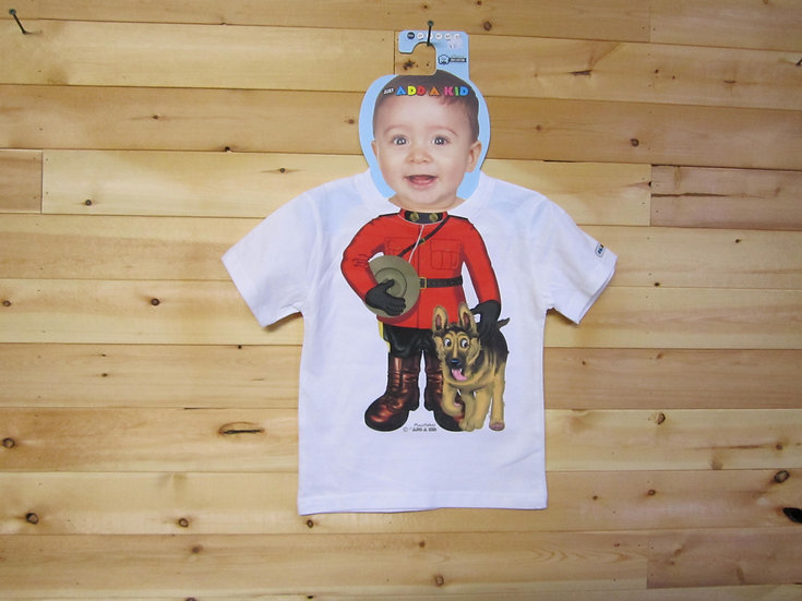 Toddler T-shirt-Mountie with Dog