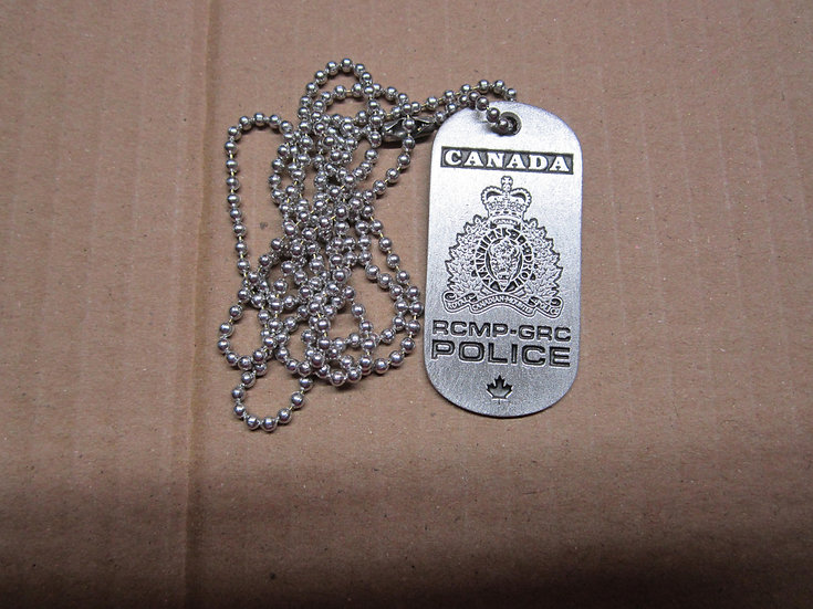 Pewter Dog Tag-Canada RCMP Police #133