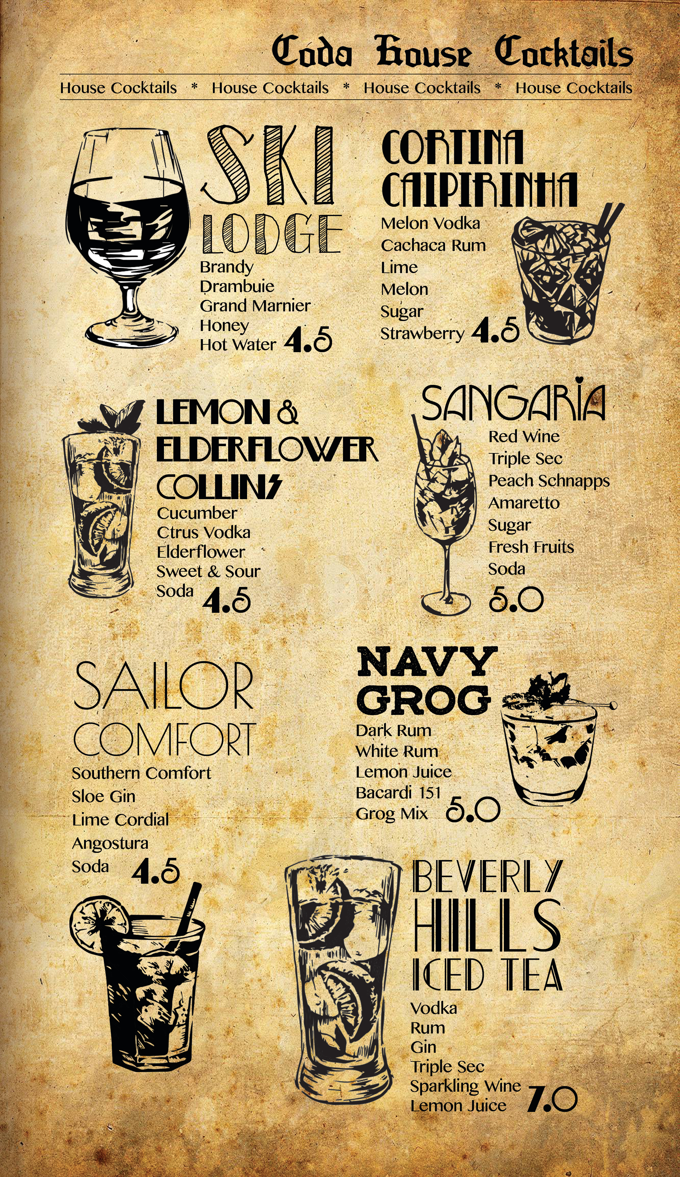 House Cocktails