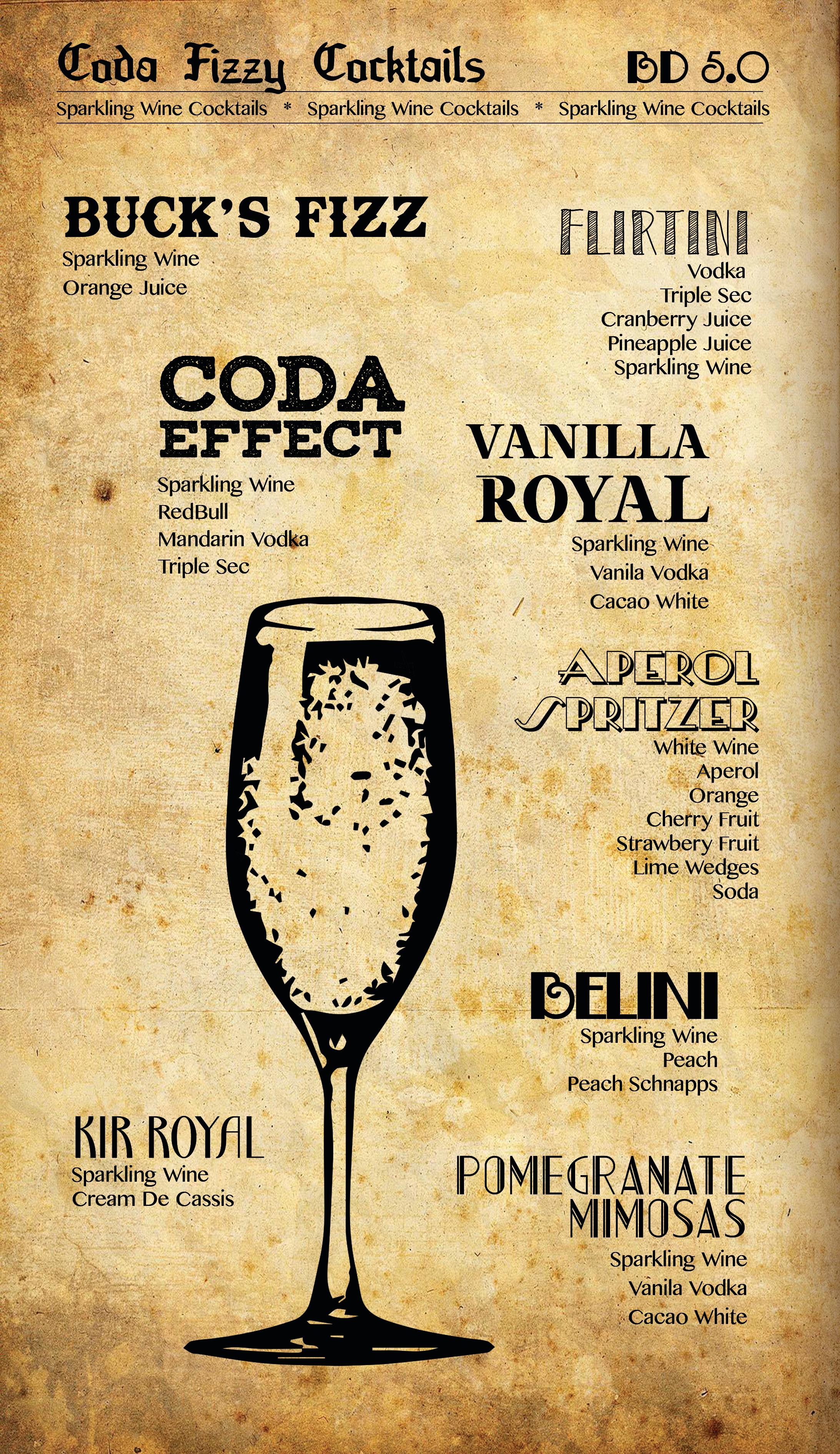 Coda Fizzy Cocktails