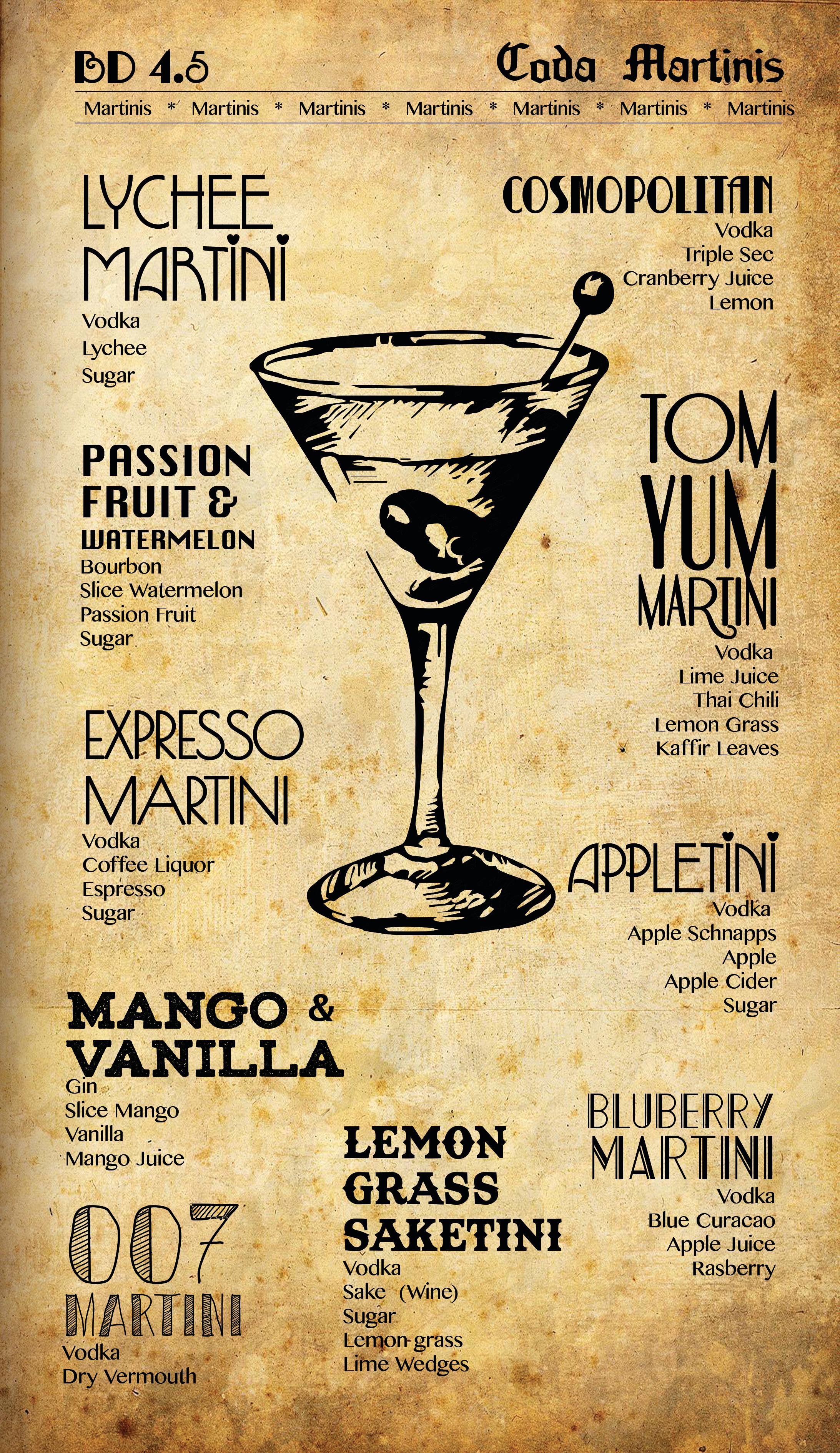 Coda Martinis