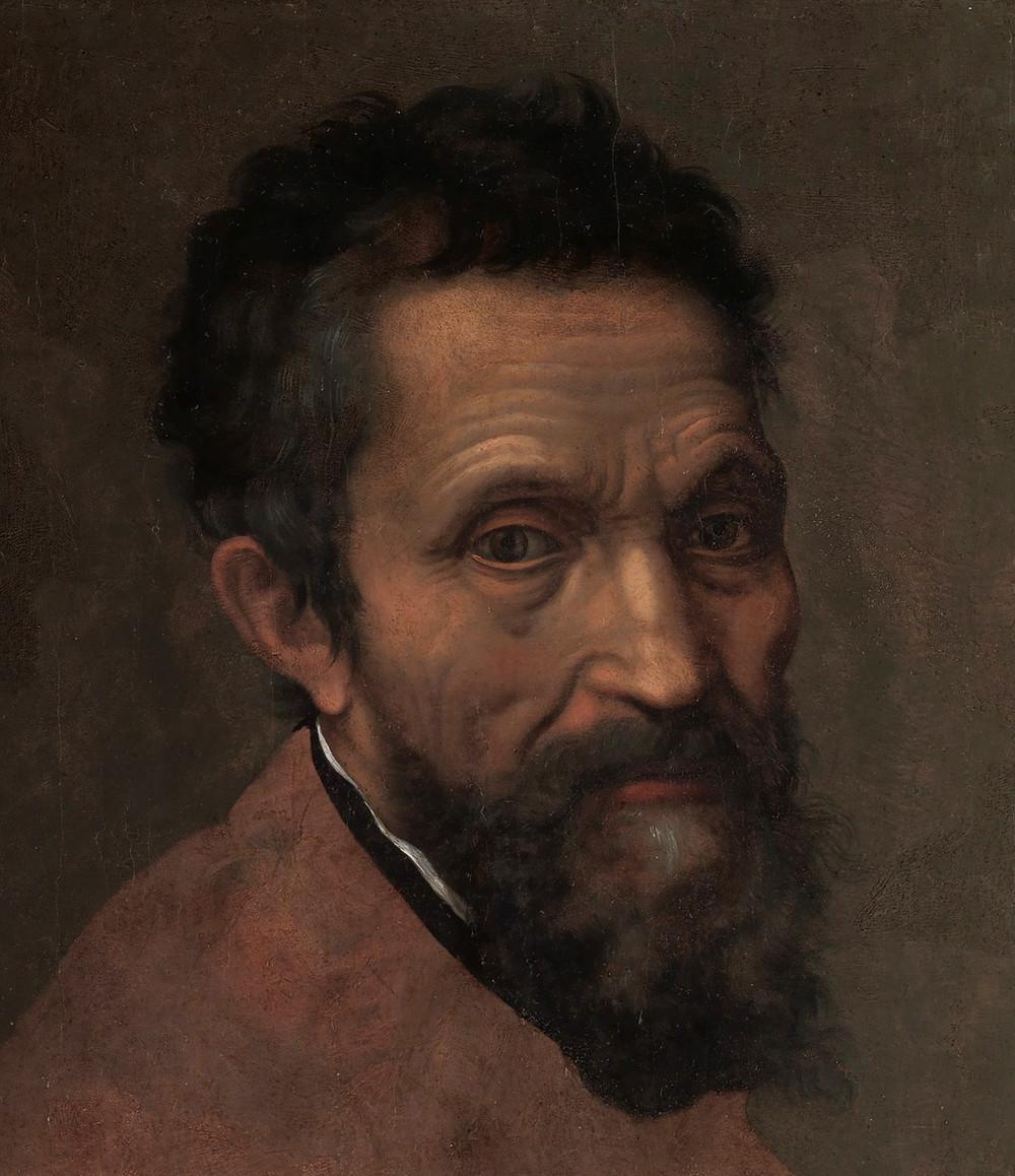 Портрет Микеланджело (художник: Даниеле да Вольтерра)
