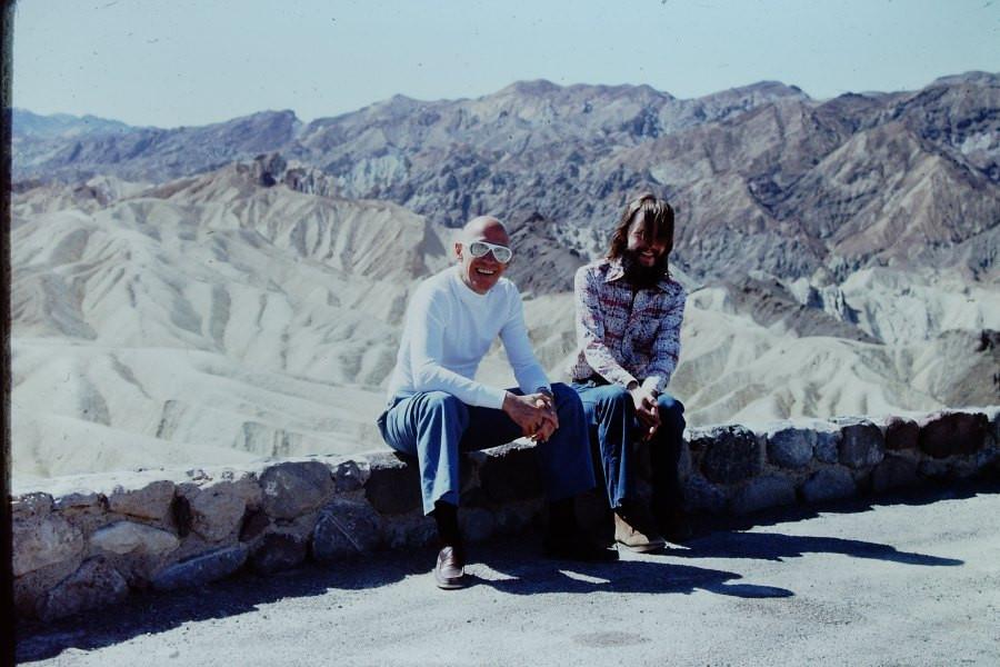 Мишель Фуко и Майкл Стоуман в Долине Смерти (шт. Калифорния, США), 1975 г.