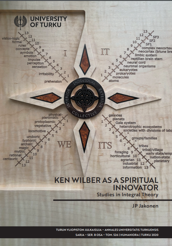 Я. П. Яконен, «Кен Уилбер как духовный инноватор»: Jakonen J.P. Ken Wilber as a spiritual innovator. Studies in Integral Theory. — Turku: University of Turku, 2020.